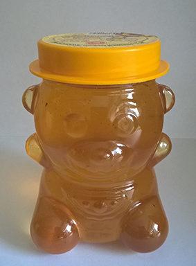 Мед натуральный, пластиковая банка «Медвежонок» 0,9 кг
