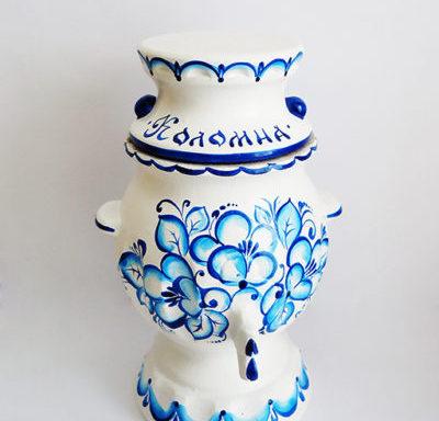 Бочонок керамический «Самовар» светлый