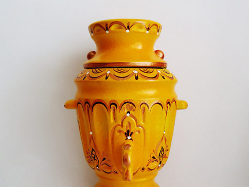 Бочонок керамический «Самовар» золотистый