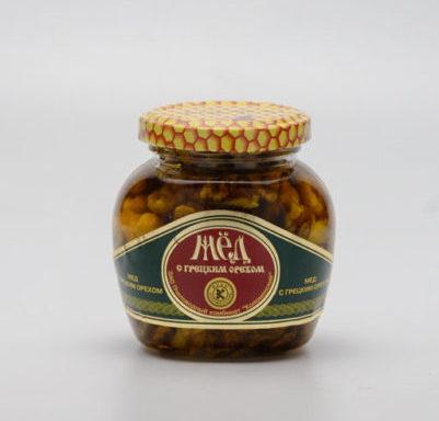 Мед с грецким орехом 0,25 кг