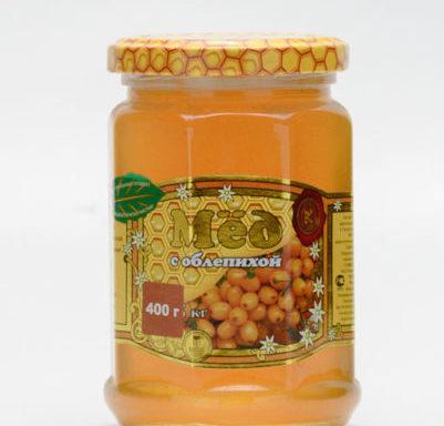 Мед с облепихой 0,4 кг