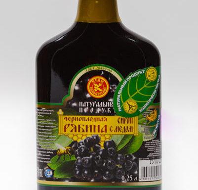 Сироп «Черноплодная рябина с медом»