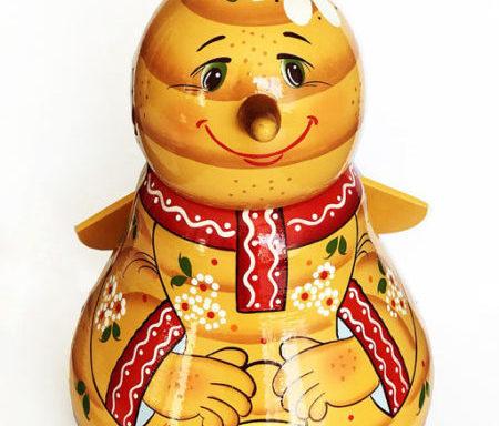Бочонок деревянный с мёдом «Пчёлка» 0,7 кг