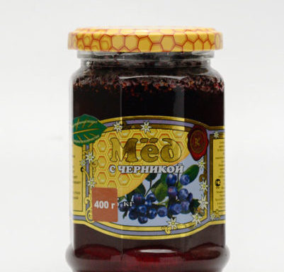 Мед с черникой 0,4 кг