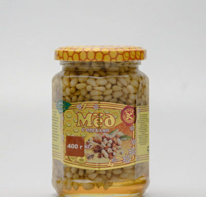 Мед с кедровыми орешками 0,4 кг