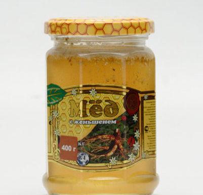 Мед с женьшенем 0,4 кг