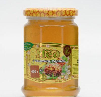 Мед с золотым корнем 0,4 кг