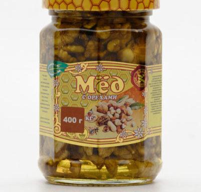 Мед с грецким орехом 0,4 кг