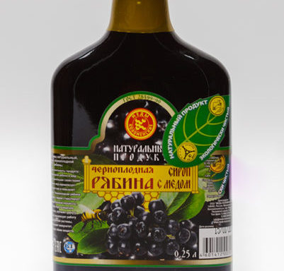 """Сироп """"Черноплодная рябина с медом"""""""